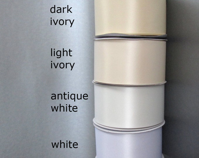 """Satin ribbon swatches, color samples, Wide double face satin ribbon color samples , Ribbon swatches of 2 1/4"""" wide ribbon"""