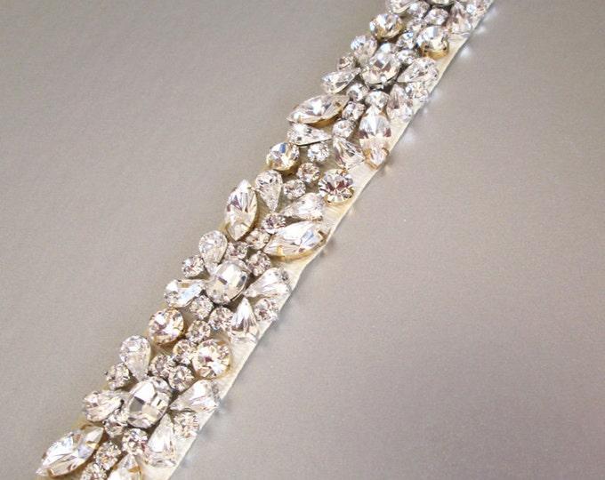Wedding belt sash, Swarovski crystal belt, Bridal belt sash, Bridal crystal sash, Bridal belt in gold, silver and gold/silver mix