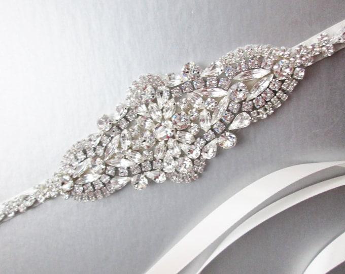 Bridal belt, Swarovski crystal bridal belt sash, Silver Wedding belt sash, Rhinestone bridal belt, Bridal belt in gold, rose gold or silver