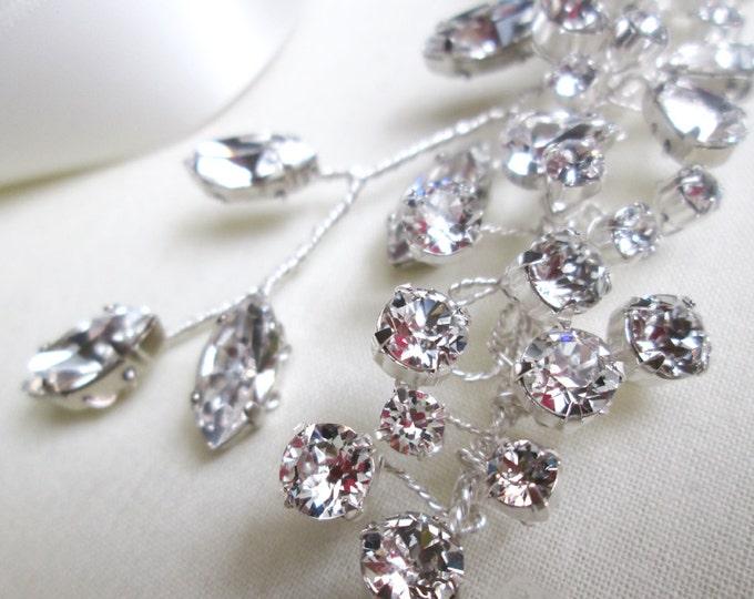 Swarovski crystal hair vine, Crystal Headband, Bridal hair vine, Bridal headband, Wedding headpiece, Swarovski headband