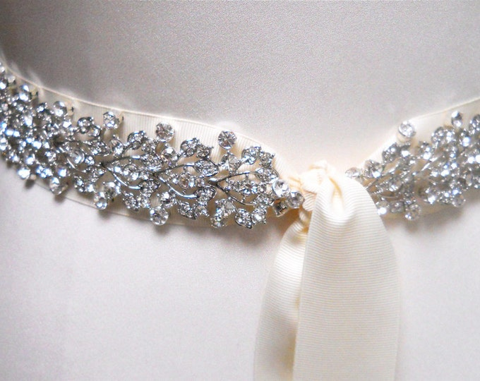 Exquisite crystal bridal belt, Swarovski bridal belt, Rhinestone belt sash, Bridal crystal belt, Wedding belt sash, Swarovski wedding belt