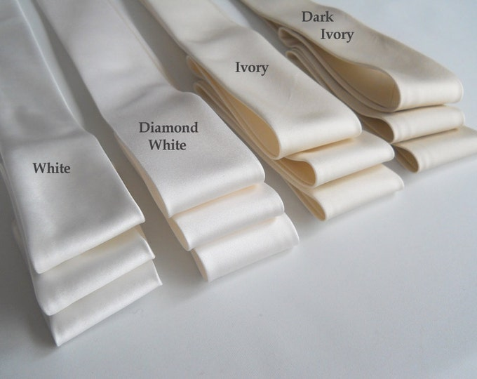 Bridal sash, Silk Duchess satin sash belt, Couture bridal sash, Bridal sash belt in silk satin, Satin ribbon belt sash, Wedding belt sash