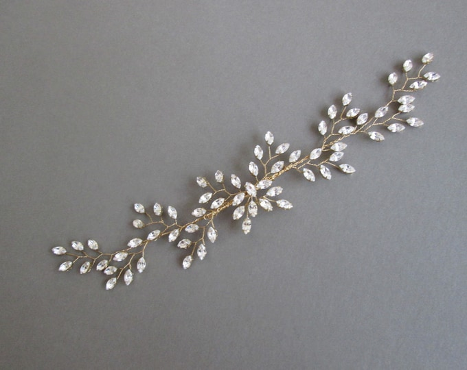 Swarovski crystal hair vine, Crystal Headband, Bridal hair vine, Bridal headband, Wedding headpiece, Bridal crystal hair vine