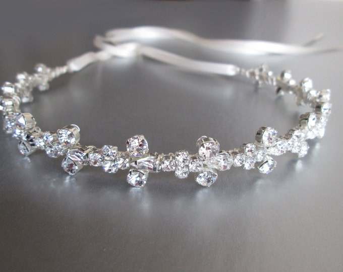 Bridal headband, Swarovski crystal headband, Wedding headband, Rhinestone bridal headband, Swarovski head band, Wedding head band