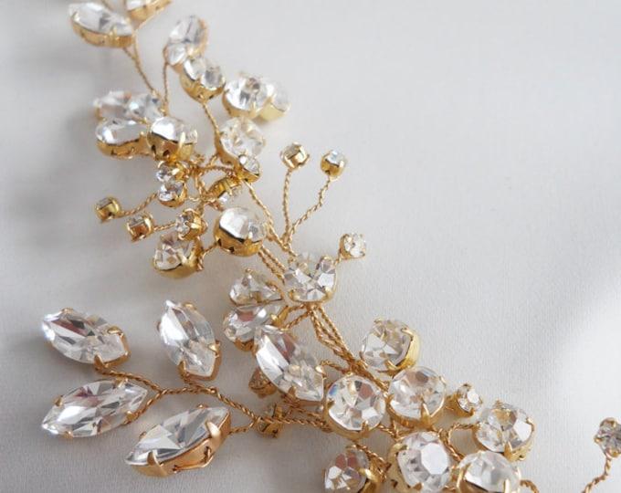 Swarovski crystal hair vine, Crystal Headband, Bridal hair vine, Bridal headband, Wedding headpiece, Bridal crystal hair vine