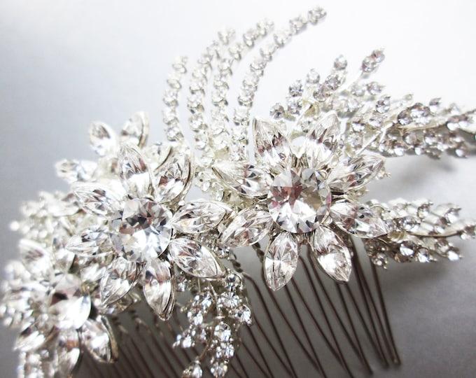 Swarovski crystal hair comb, Bridal crystal hair comb, Rhinestone bridal comb, Sparkly bridal headpiece, Wedding comb, Gatsby Bridal comb