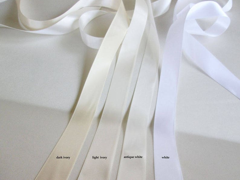 Satin ribbon swatches Ribbon color samples Double face satin image 0
