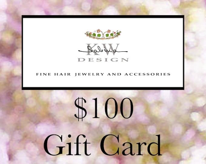 SABINA KW DESIGN Gift Card, 100 Gift Card