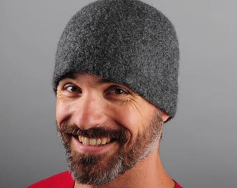 Plain Hat // Men's or Women's Wool Felt Winter Hat // Merino Wool // Gifts for Him // Gifts for Her // Beanie // Tuque // Unisex // Felt Hat