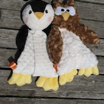Owl AND Penguin STUFFED ANIMAL Sewing Pattern - Digital Download