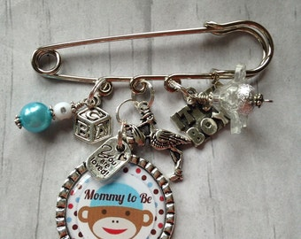 Twins Safety Pin Etsy