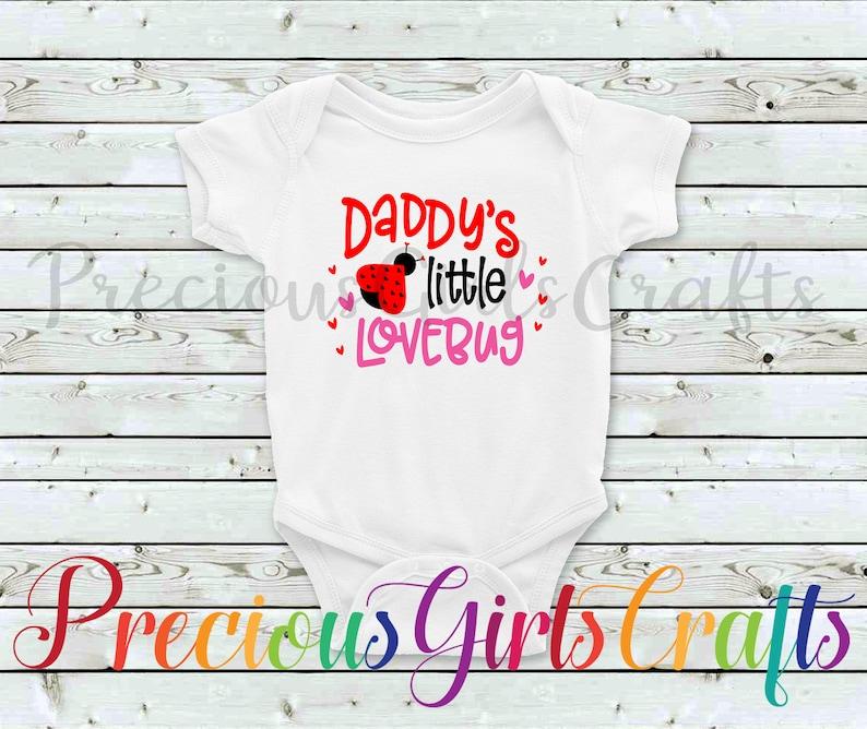 b0359d277 Daddy's Little Love Bug Onesie Valentines Baby Onesie | Etsy