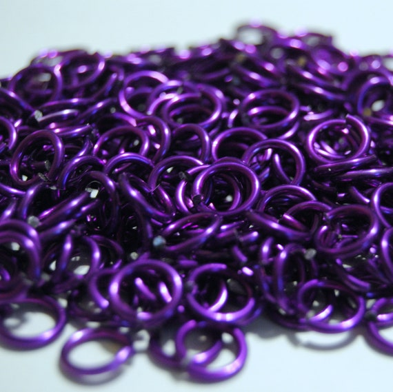 """1//4/"""" ID 14g AWG Red Saw-Cut Chainmail Jump Rings 300+ Rings .062/"""""""