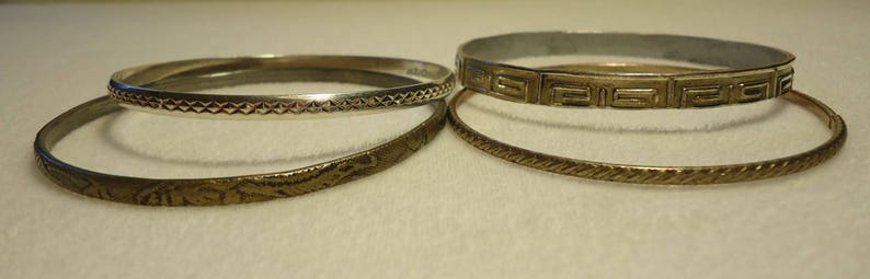 lot #1 25 Vintage Bangles With Scrolled Designs