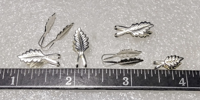 40 NEW Silver Plated Fold over Necklace Bails