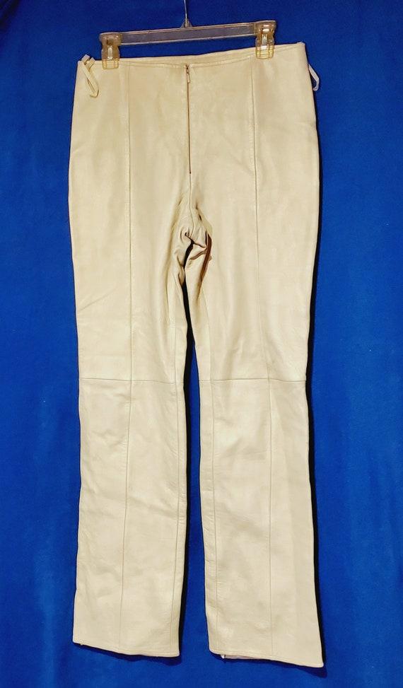Vintage Cache Ladies Leather Slacks