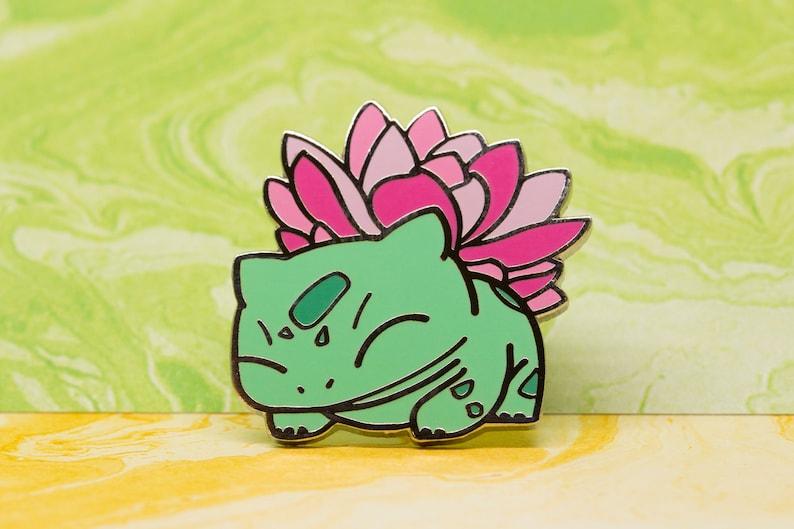 Bulbasaur With Succulent Enamel Pin