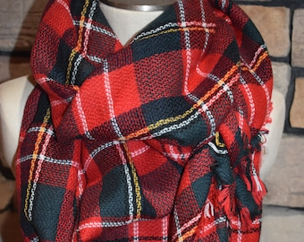 plaid tartan blanket scarf red and green christmas plaid scarf scarves zara style plaid blogger favorite gift womans accessories new color - Christmas Plaid Scarf