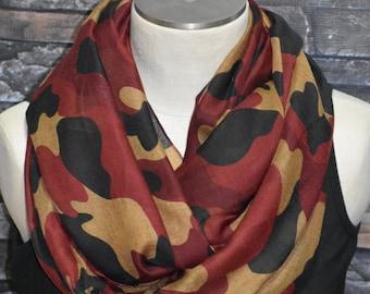 Camo Infinity foulard en Polyester Viscose automne rouille Camoflouge  cercle boucle automne foulard-chasse-accessoires-belle grosse écharpe 0cb9bec578d