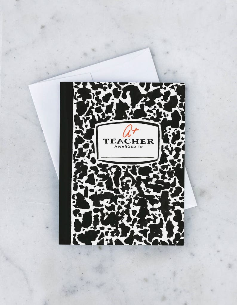Composition Book Greeting Card