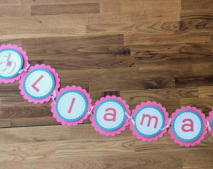 Llama Mama Banner - Alpaca Llama Mama Baby Shower Birthday Party Cute La La Llama