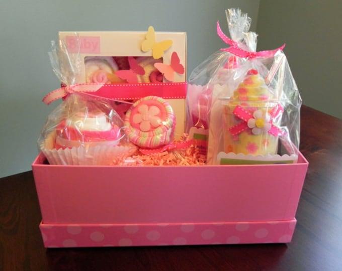 BabyBinkz Gift Basket - Unique Baby Shower Gift or Centerpiece cute girl boy neutral