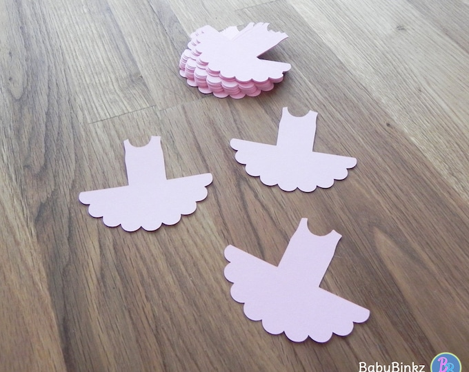 Die Cut Pink Tutus (25+) - photo prop party decoration punch cutout card stock