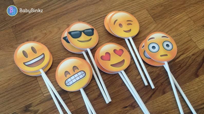 Emoji Cupcake Toppers Fête Mariage Anniversaire Décoration Instagram Médias Sociaux Iphone App Icône Coller La Pièce Maîtresse