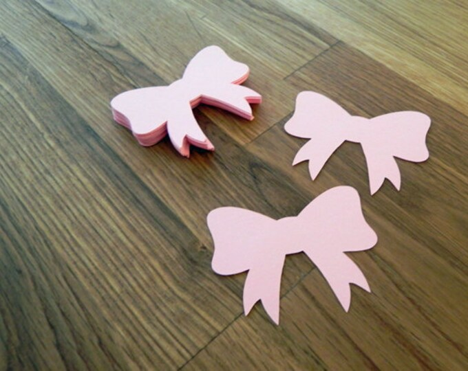 Die Cut Pink Bows (25+) - photo prop party decoration punch cutout card stock
