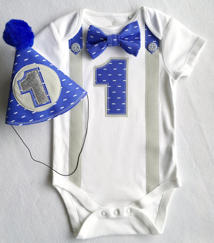 NEW   Party 1st Birthday Blue Fabric Tie 23cm