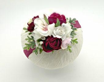 Wedding Headband - Burgundy and Pale Pink - Girls Headband - Flower Girl Headband - Baby Headbands - Well Dressed Wolf