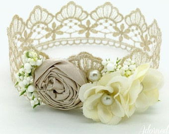 Vintage Newborn Crown, baby crown,  photography prop