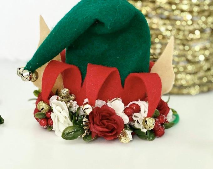 Newborn Elf Hat-Mini Elf Hat-Newborn Photo Prop-Baby Elf Hat