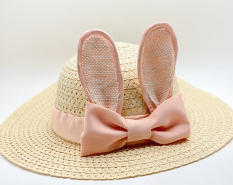 Easter Bonnet, Girls easter bonnet, Girls Bunny Ears bonnet, Girls eater hat, Girls tea hat, girls birthday hat, tea party hat