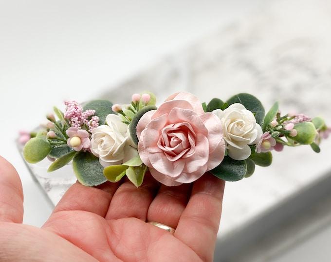 Pink Flower Crown , Flower Girl Crown, Flower Crown, Halo Flower Crown, Bridal Crown, Maternity Crown, Wedding Crown
