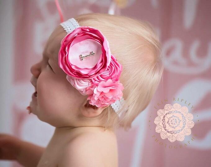 Birthday headband, Baby Headband, Newborn Headband, Baby Girl Headband, Toddler Headband, Infant Headband, Girls Headband
