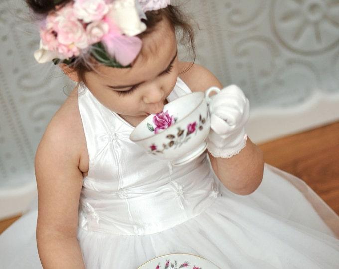 Wedding headband - Flower Girl Headband, - Bridal Headpiece - Baby Girl Headbands