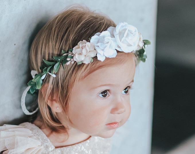 Neutral Flower Crown , Boho Wedding Crown, Flower Crown, Halo Flower Crown, Bridal Crown, Maternity Crown, Wedding Crown, Mommy and Me Crown