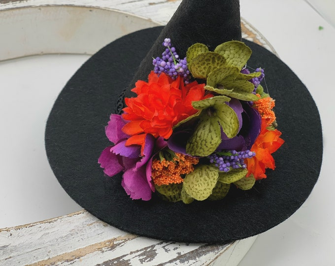 Witch Hat, Baby Witch Hat, Girls Witch Hat, Halloween Witch Hat, Adult Mini Witch Hat