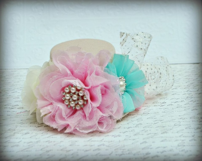 Girls Birthday Top Hat, Girls Top Hat, Newborn Top Hat, infant Top Hat, Toddler Top Hat, Girls Tea Hat
