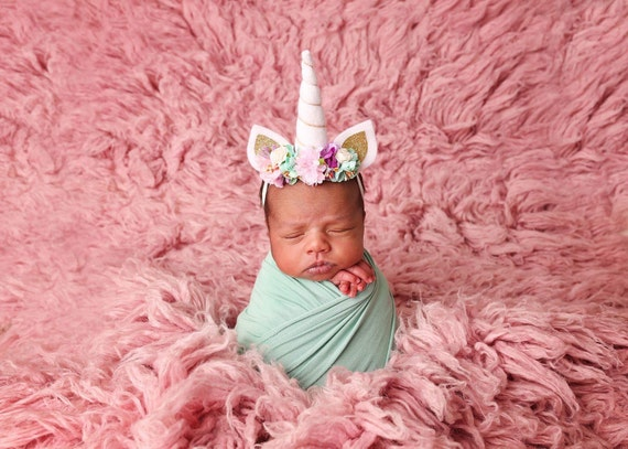 Newborn and up Unicorn headband Unicorn Horn Headband baby  6543f1db406