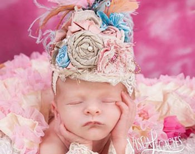 Baby Hat, Baby Top Hat, Baby Headband, Girls Top hat  for special occasions,photo shoots,pageants.birthdays