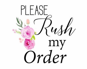 RUSH Order Upgrade... Ships within 72hrs