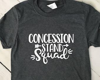 Funny Football Shirt, Concession Stand Squad, Short Sleeve T Shirt, Mom Shirt, Dad Shirt, Fall T Shirt, 22661