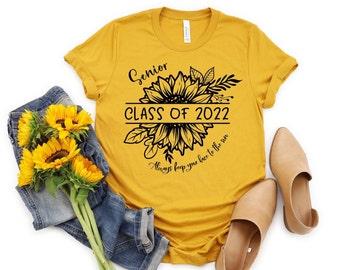 Senior 2022 Shirt, Sunflower T Shirt, Class Of 2022, Graduation Shirt, Back To School Shirt, School Tshirt, 22807