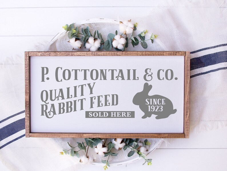 Painted Wood Sign 22728 P Cottontail And Company Easter Wood Sign Farmhouse Easter Decor Sign