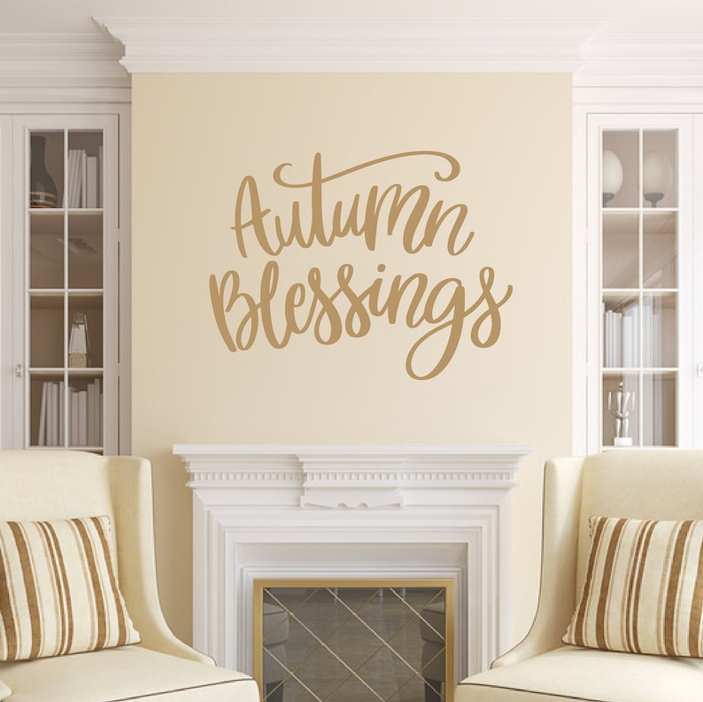 Autumn Blessings Vinyl Wall Decal Fall Decal Fall Decor image 0