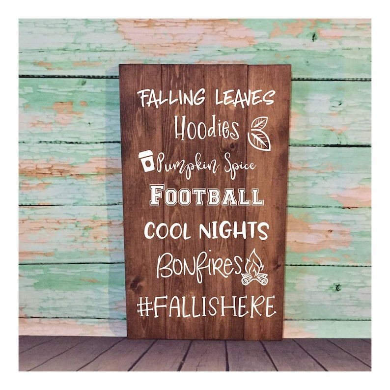 Fall Is Here Sign Wood Sign Hand Painted Sign Fall Sign image 0