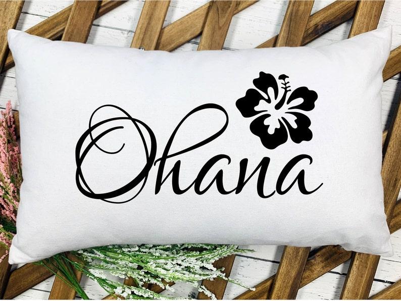 Ohana Throw Pillow Cover  Beach Decor  Hawaiian Decor  image 0