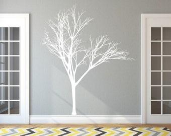 Tree Decal | Nursery Decal | Vinyl Wall Decal | Winter Tree | Bare Tree | Nursery Decor | Living Room Decor | 22221 Style 2B